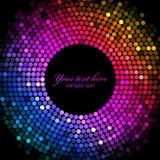 El disco colorido enciende el marco Imagen de archivo libre de regalías
