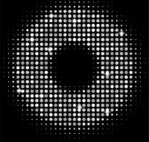 El disco de plata del vector enciende el fondo Mosaico brillante de oro en estilo de la bola de discoteca abstraiga el fondo Imagenes de archivo