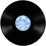 El disco del álbum del lp del expediente de negro vinilo, disco aislado del disco de larga duración con en blanco vacia el espaci Fotos de archivo