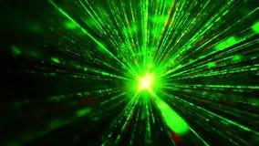 El disco del laser enciende puntos coloridos almacen de metraje de vídeo