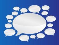 El discurso burbujea comunicación Fotografía de archivo