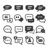 El discurso burbujea icono Imagen de archivo libre de regalías