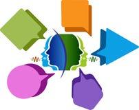 El discurso burbujea logotipo stock de ilustración