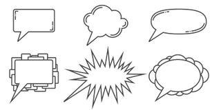 El discurso burbujea los ejemplos libre illustration