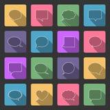 El discurso burbujea los iconos Imagen de archivo