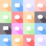 El discurso burbujea los iconos planos Imagen de archivo libre de regalías