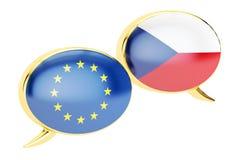 El discurso burbujea, república EU-checa, concepto de la conversación 3d arrancan libre illustration