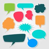 El discurso burbujea sistema cómico Imagen de archivo