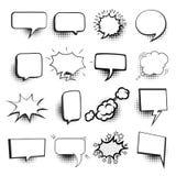 El discurso burbujea sistema cómico Foto de archivo