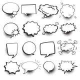 El discurso burbujea sistema cómico Foto de archivo libre de regalías