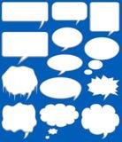 El discurso burbujea vector Fotos de archivo