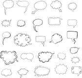 El discurso burbujea vector Fotografía de archivo libre de regalías