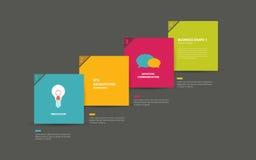 El discurso colorido burbujea diagrama con los campos del texto stock de ilustración