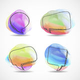 El discurso dibujado mano de la acuarela burbujea vector libre illustration