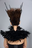 El diseñar del pelo da vuelta detrás a la visión, el talento creativo de la suposición compone y H fotos de archivo libres de regalías