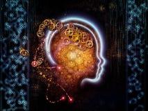 Tecnología humana metafórica stock de ilustración