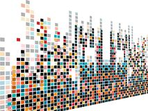 El diseño creativo abstracto de la música dotes Foto de archivo