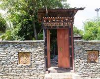 El diseño de entrada de Bhután imagenes de archivo