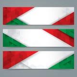 El diseño de la bandera de la colección, bandera italiana colorea la bandera del fondo ilustración del vector
