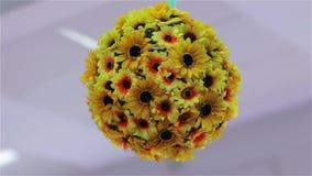 El diseño de la bola de la flor metrajes