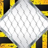 El diseño de la cerca atada con alambre del extracto con el grunge rayó el EL Imagen de archivo