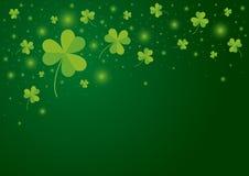 El diseño del fondo del día del St Patricks de trébol se va stock de ilustración