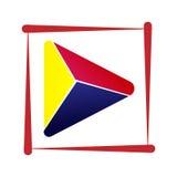 El diseño del icono del jugador colorea rojos Fotografía de archivo