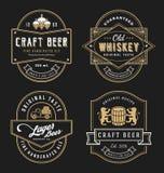 El diseño del marco del vintage para las etiquetas, la bandera, la etiqueta engomada y otra diseñan Imagen de archivo