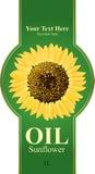 El diseño etiqueta el petróleo de girasol Imagenes de archivo