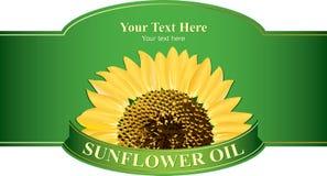 El diseño etiqueta el petróleo de girasol Fotografía de archivo