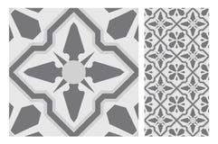 El diseño inconsútil antiguo del vintage modela las tejas en el ejemplo del vector Foto de archivo