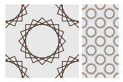 El diseño inconsútil antiguo del vintage modela las tejas en el ejemplo del vector Imágenes de archivo libres de regalías