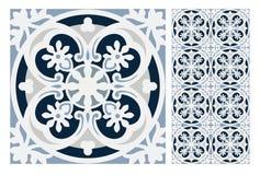 El diseño inconsútil antiguo del vintage modela las tejas en el ejemplo del vector Fotos de archivo libres de regalías