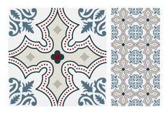 El diseño inconsútil antiguo del vintage modela las tejas en el ejemplo del vector Imagenes de archivo