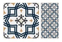 El diseño inconsútil antiguo del vintage modela las tejas en el ejemplo del vector Fotografía de archivo libre de regalías