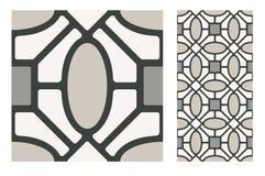 El diseño inconsútil portugués antiguo del vintage modela las tejas en el ejemplo del vector fotografía de archivo libre de regalías