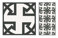 El diseño inconsútil portugués antiguo del vintage modela las tejas en el ejemplo del vector imagen de archivo