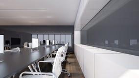 El diseño interior de la oficina, representación 3D Fotos de archivo libres de regalías