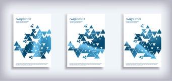 El diseño mínimo de la cubierta del vector fijó con los triángulos abstractos Pendientes de semitono modernas libre illustration