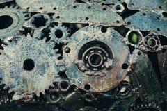 El diseño mecánico de engranajes soldó con autógena idetaley de las soldadoras Fotos de archivo