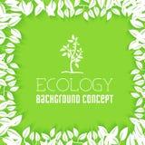 El diseño plano de ecología, ambiente, verde limpia Foto de archivo