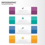 El diseño plano de Infographic de los elementos de las plantillas coloridas de la presentación fijó para el márketing del prospec