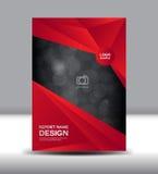 El diseño rojo de la cubierta y el informe anual de la cubierta vector el ejemplo, abucheo stock de ilustración