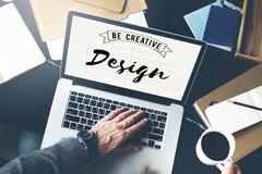 El diseño sea Art Graphic Concept creativo Fotografía de archivo