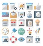 El diseño web y los iconos aislados desarrollo del vector fijaron editable ilustración del vector