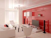 El diseño innovador de la sala de estar Fotografía de archivo