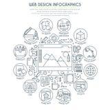 El diseño web Infographics enrarece la línea Imágenes de archivo libres de regalías