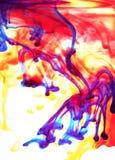 El disparar hacia fuera en tonalidades primarias Imagen de archivo