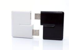 El dispositivo para leer tarjetas de destello Foto de archivo libre de regalías