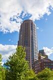 El districto financiero de Boston Fotos de archivo libres de regalías